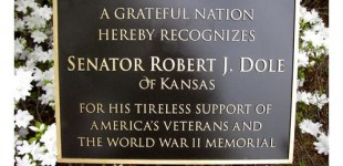 Senator Dole's Plaque - WWII Memorial