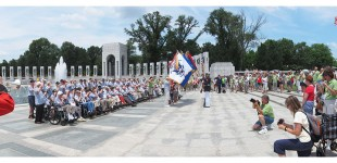 Honor Flight Chicago at WWII Memorial