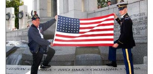 Eight Honor Flights at WWII Memorial